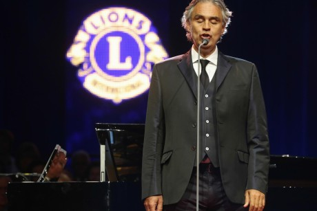Presentation of the 2013 Lions Humanitarian Award, the highest honor of the association, to international superstar tenor Andrea Bocelli, founder of Andrea Bocelli Foundation, on Tuesday, July 9. The award includes a US$250,000 grant from Lions Clubs International Foundation for continuing humanitarian activities. Previous recipients include former U. S. President Jimmy Carter and Mother Teresa.