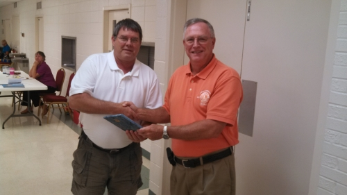 Don Morton, Sanford Lions receives award for club donating over $8,000 to the Brighter Visions program for 2012-2013.