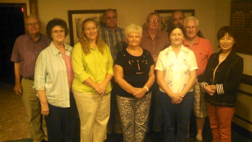 Members of the Godwin Lions Club.  Ten of the thirteen members are Jack Stickley Fellows.